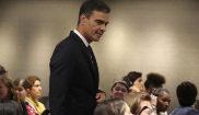 Pedro Sánchez, a su llegada al acto 'Violencia contra las mujeres y...