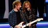 Los cantantes Ed Sheeran y Beyonce