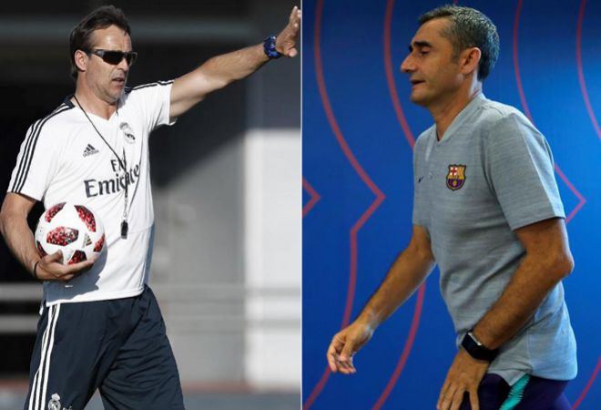 Julen Lopetegui y Ernesto Valverde.