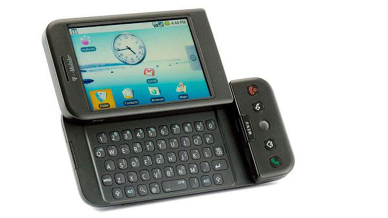 El primer teléfono con Android, fabricado por la operadora T-Mobile y...