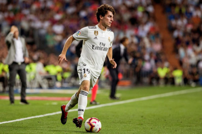 El defensa del Real Madrid Álvaro Odriozola