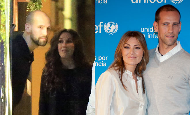 Gonzalo Miró con Malú (izquierda) y con Amaia Montero (derecha)