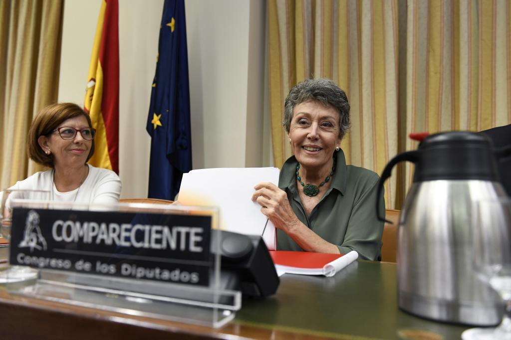 Rosa María Mateo, durante su comparecencia en el Congreso.