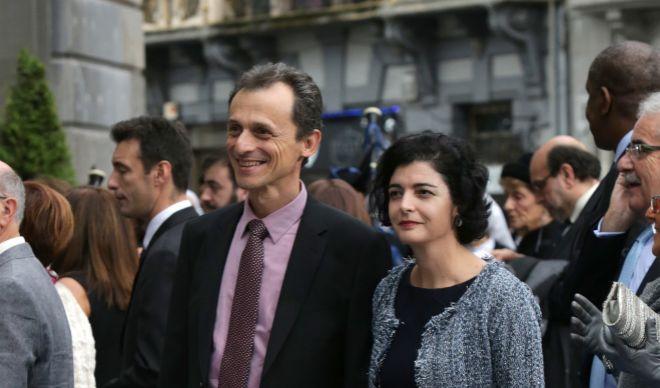 Pedro Duque y Consuelo Femenía, en los premios Príncipe de Asturias.