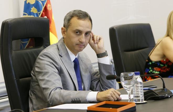El presidente de la Diputación de Alicante, César Sánchez, en una imagen de archivo.