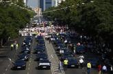 Manifestación de conductores de vehículos con licencia VTC en...