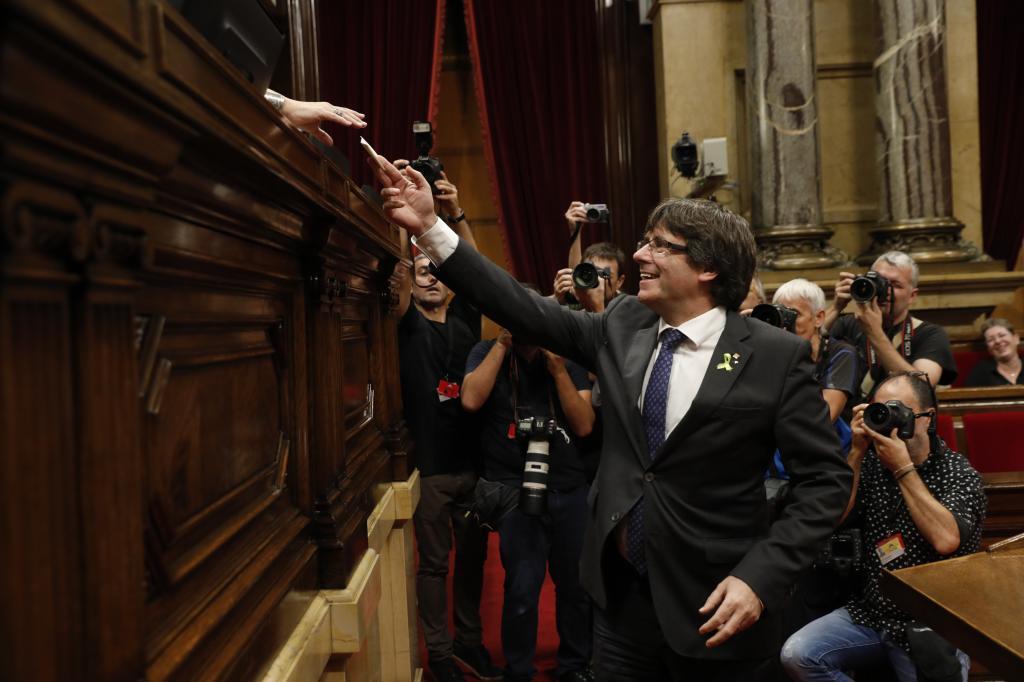 Jornada del Parlament en la que Carles Puigdemont anunció la Declaración Unilateral de Independencia.