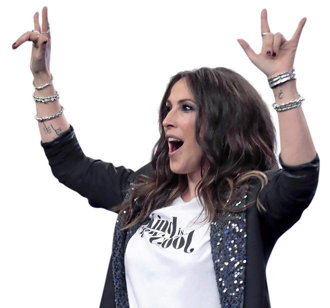 Malú, en una de sus últimas apariciones en televisión el pasado lunes en El Hormiguero de Antena 3.