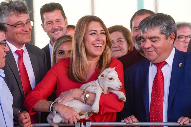Susana Díaz, durante la inauguración en Huescar de la XIX Feria agroganadera.