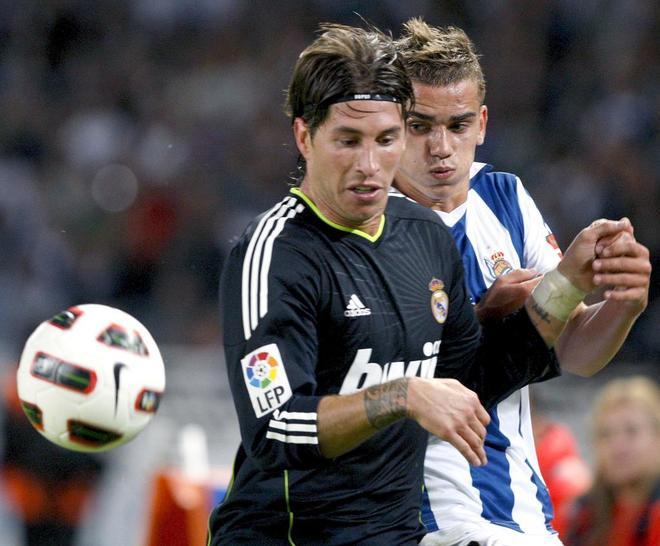 Ramos y Griezmann, en el Real Sociedad-Real Madrid de 2010.