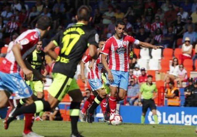 Un momento del partido entre el Lugo y el RCD Mallorca.