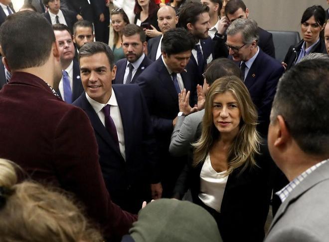El presidente del Gobierno, Pedro Sánchez, durante su visita a Los...