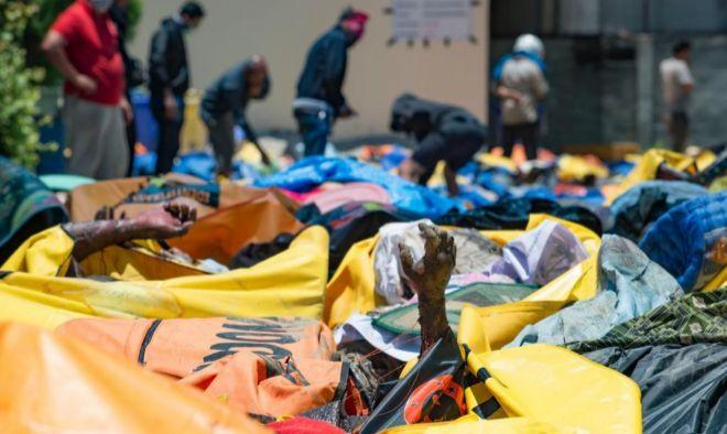 Decenas de víctimas en uno de los hospitales de Palu.