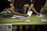 Recuento de votos tras el referéndum del pasado 1 de octubre
