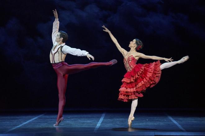 Los bailarines Alessandro Riga y Cristina Casa, en su actuación como protagonistas de El Quijote de la Compañía Nacional de Danza Teatro de La Zarzuela.