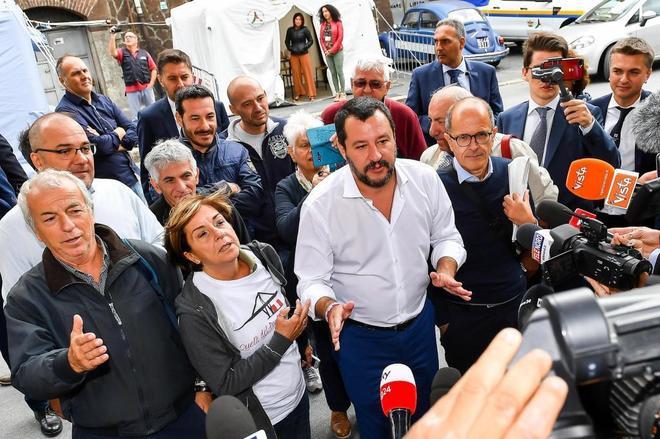 El vicepresidente y ministro de interior italiano, Mateo Salvini.