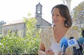 La diputada de Podemos Carolina Bescansa, este martes en Santiago.