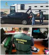 Fotografías distribuidas por la Guardia Civil en relación con la...