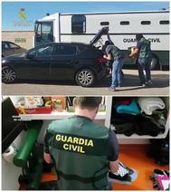 Fotografías distribuidas por la Guardia Civil en relación con la desarticulación del grupo.