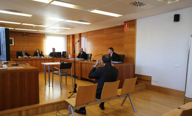El acusado, este martes, en el juicio en la Audiencia Provincial de Castellón.