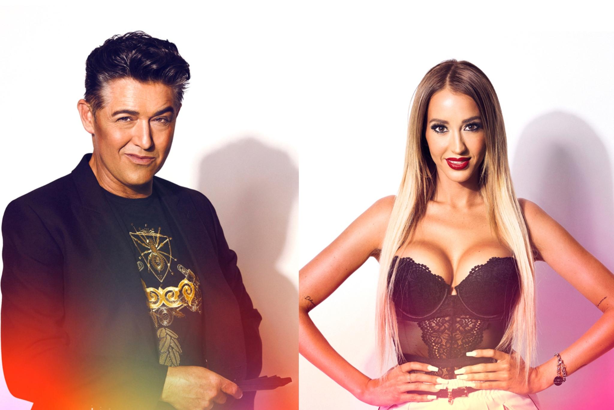 El humorista Ángel Garó y Aurah Ruiz, concursantes de Gran Hermano...