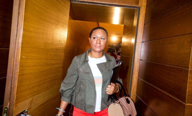 La ex consellera Lola Johnson, en una comparecencia en las Cortes.