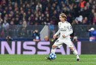Luka Modric, durante el partido ante el CSKA