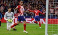 Griezmann festeja el segundo gol del Atlético en el Metropolitano.