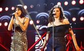 Natalia y Marta, durante su actuación en la Gala 2 de OT 2018.