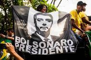 Seguidores del candidato Jair Bolsonaro, en Río de Janeiro.