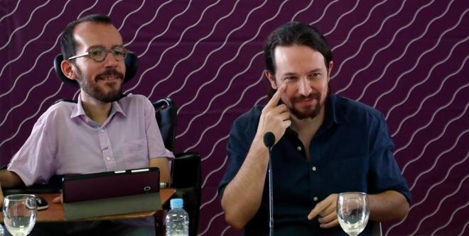 Pablo Echenique y Pablo Iglesias, en el Consejo Ciudadano Estatal de...