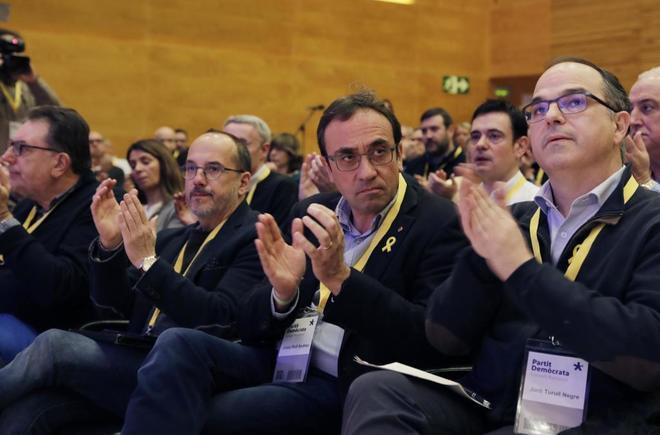Josep Rull y Jordi Turull, durante un congreso del PDeCAT.