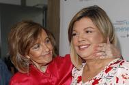 Terelu Campos junto a su madre, el pasado julio, tras salir del hospital.