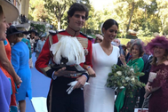 Fernando Fitz-James Stuart y Sofía Palazuelo, el día de su enlace celebrado hoy