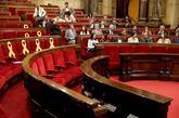 Arrimadas y los diputados de Ciudadanos e Iceta y los diputados del...