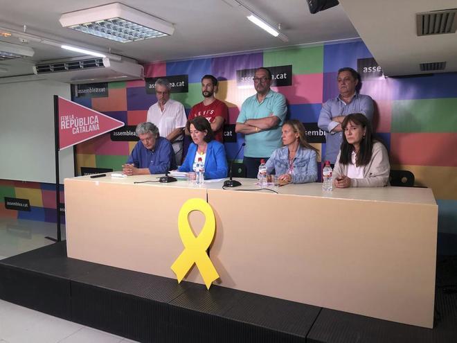 La presidenta de la ANC, Elisenda Paluzie, en rueda de prensa.