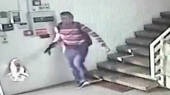 Imagen del atacante captada por las cámaras de seguridad