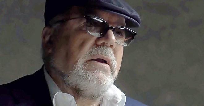 El comisario jubilado José Manuel Villarejo, en su última aparición pública en un programa de televisión.