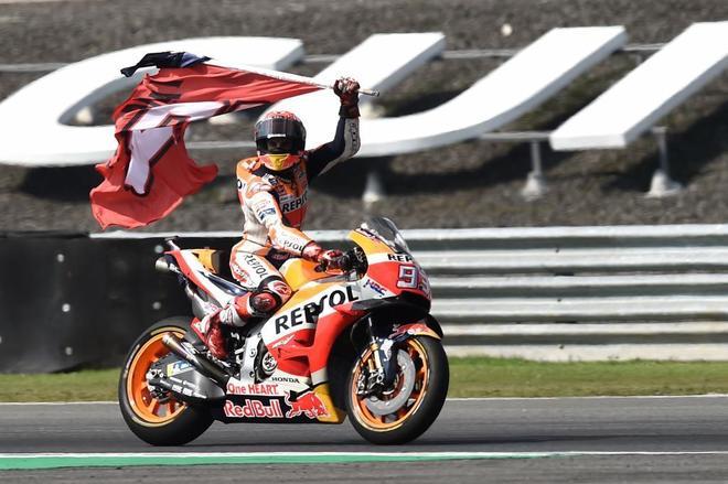 Marc Márquez, después de su victoria este domingo en Tailandia.