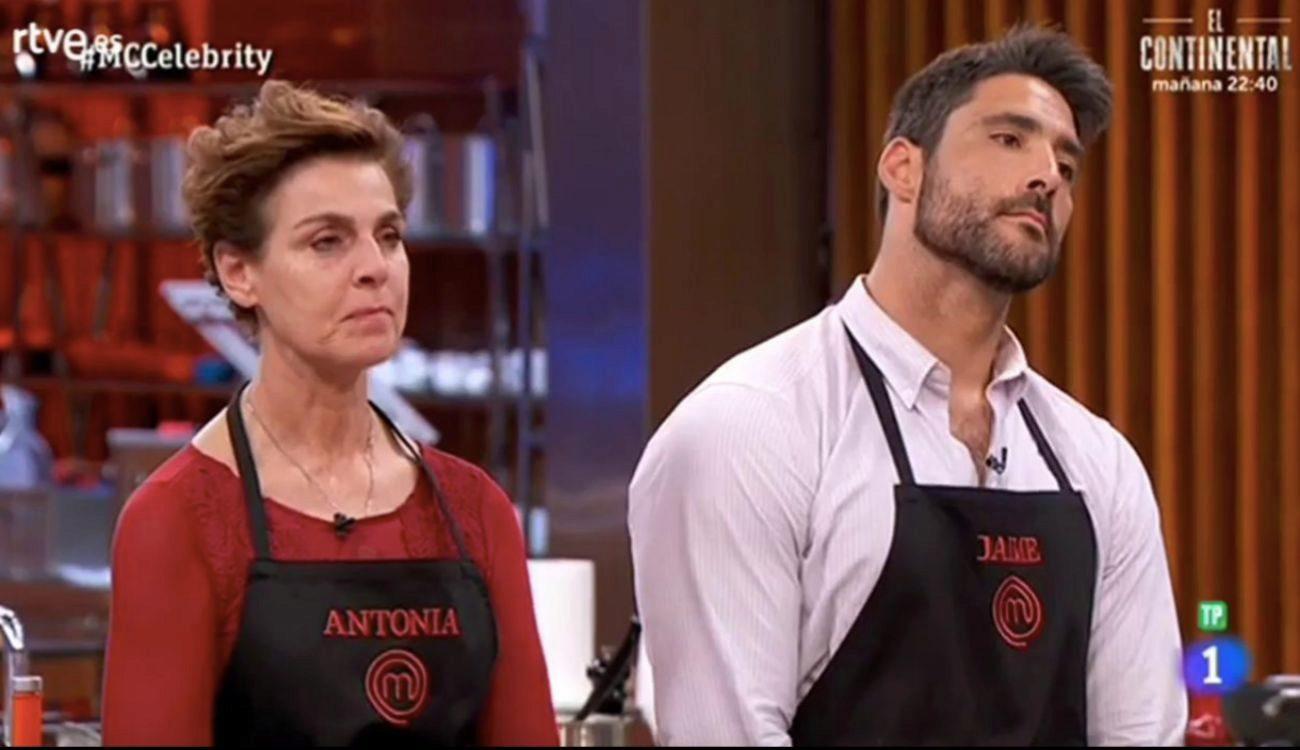 Antonia Dell'Atte y Jaime Nava, eliminados del concurso de TVE MasterChef Celebrity.