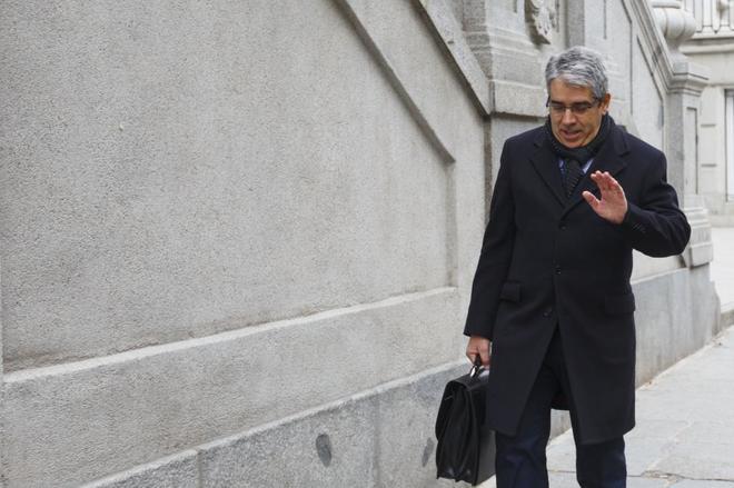 Francesc Homs acude al Tribunal Supremo, en febrero de 2018.