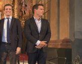 Pablo Casado y Albert Rivera, juntos en un acto celebrado en Cádiz el...