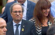 El 'president' Quim Torra y la consejera de Cultura, Laura Borràs.