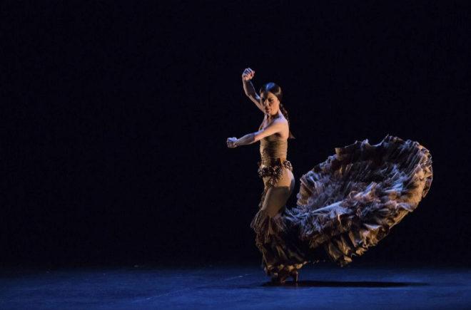 Olga Pericet en el espectáculo 'Pisadas', en Nueva York. | ALEJANDRO MALLADO