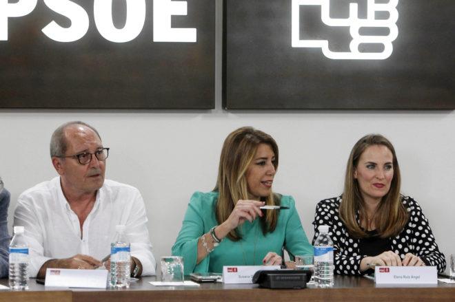 Susana Díaz, durante la reunión de la comisión ejecutiva regional del PSOE andaluz, este martes.