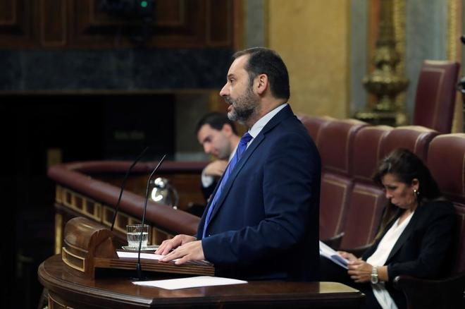 El ministro de Fomento, José Luis Ábalos, hoy en el Congreso.