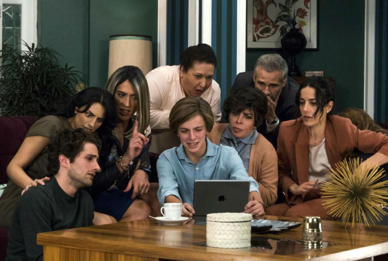 La familia De la Mora en una de las escenas de la serie  'La Casa de...