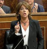 La ministra de Justicia, Dolores Delgada, durante la sesión de...