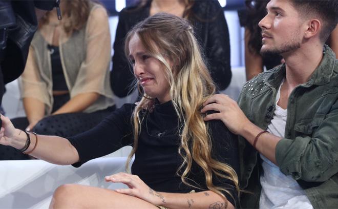 María llora tras la expulsión de África en la gala 3 de OT 2018.