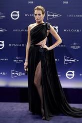 La modelo acudió a la gala de la revista Telva con un vestido...